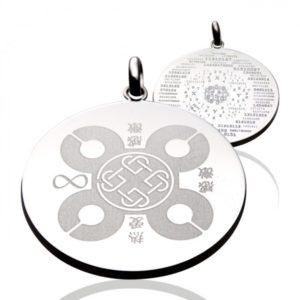 Dvojni srebrni medaljon Poznik