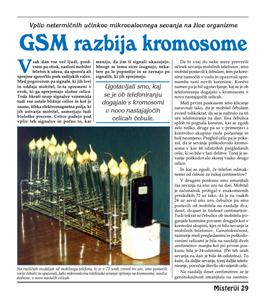 GSM RAZBIJA KROMOSOME