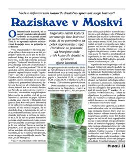 Raziskave v Moskvi
