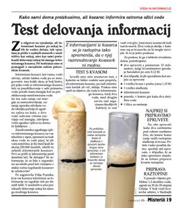 Test delovanja informacij