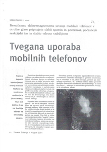 TVEGANA UPORABA MOBILNIH TELEFONOV