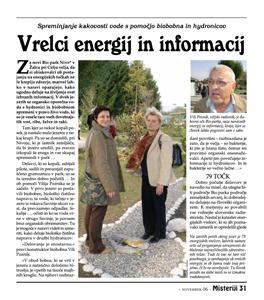 VRELCI ENERGIJ IN INFORMACIJ