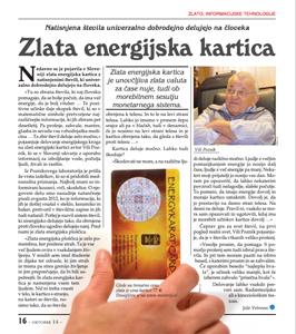 ZLATA ENERGIJSKA KARTICA