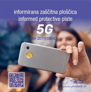 Informirana zaščitna ploščica za 5G omrežje